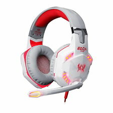 Cuffie Gaming LED Mic Cuffie Stereo Surround Per PC Laptop ps4 XBOX Bianco