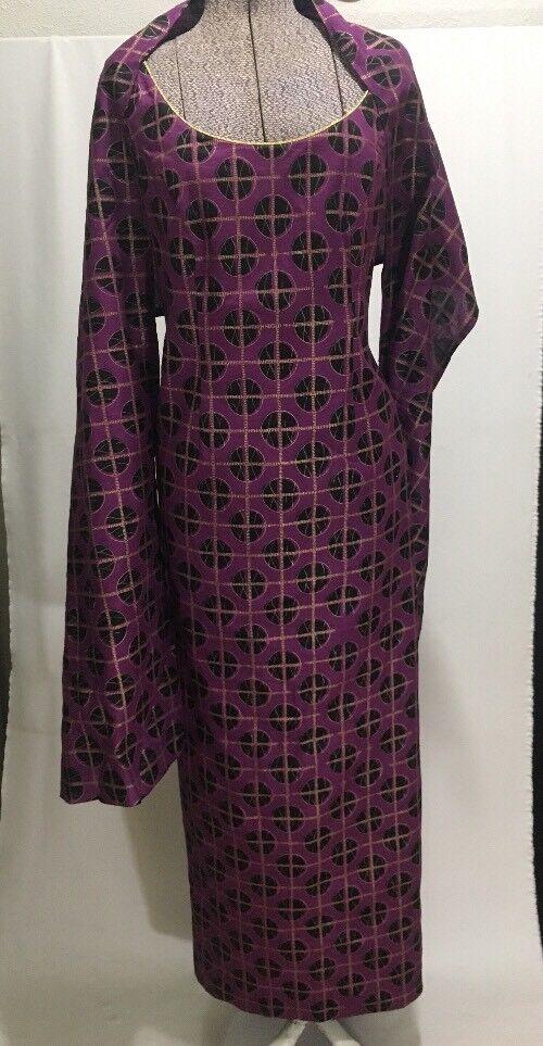 Viola oro Abito da da da Sera Handmade Portland Oregon Tailor Thu Design di Moda 23fdcb