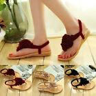 2017 Women Girls Flowers Thong Flip Flops Sandals Shoes Beach Casual Flats Shoes