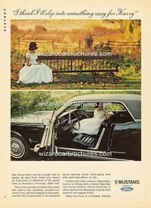 1966 FORD MUSTANG A3 POSTER AD SALES BROCHURE ADVERTISEMENT ADVERT