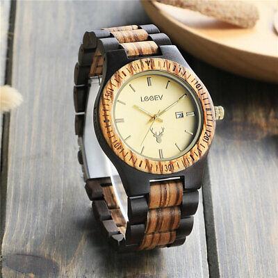 Vintage Herren Leuchtende Analoge Holz Armbanduhr Quarzuhr Manner Mode Uhr Vertrieb Von QualitäTssicherung