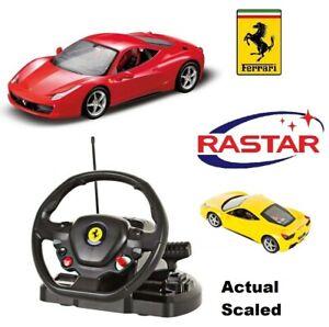 Ferrari 458 Italia Official Rastar Steering Wheel Remote Control Super Toy Car Ebay