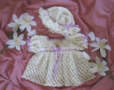 "044""TAMMY"" Baby 3-PC Dress Set CROCHET PATTERN by REBECCA LEIGH--6/12 Months"