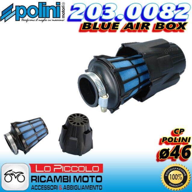 203.0082 FILTRO ARIA A FUNGO BLUE AIR BOX POLINI ø46 MINARELLI PIAGGIO VESPA