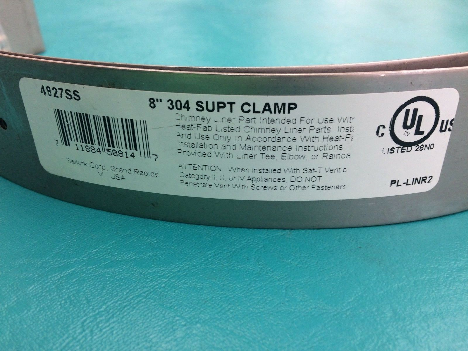 "HEAT FAB SAF-T LINER 7/"" LINER RAIN CAP 304 OR 316 STAINLESS STEEL"