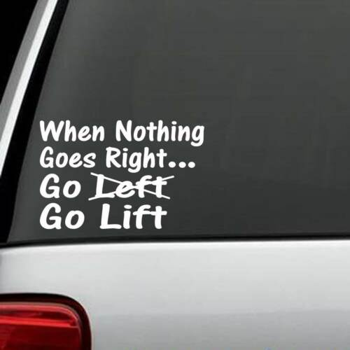 H1039 Go Lift Kettlebell Decal Sticker weight insanity Crossfit exercise ps90