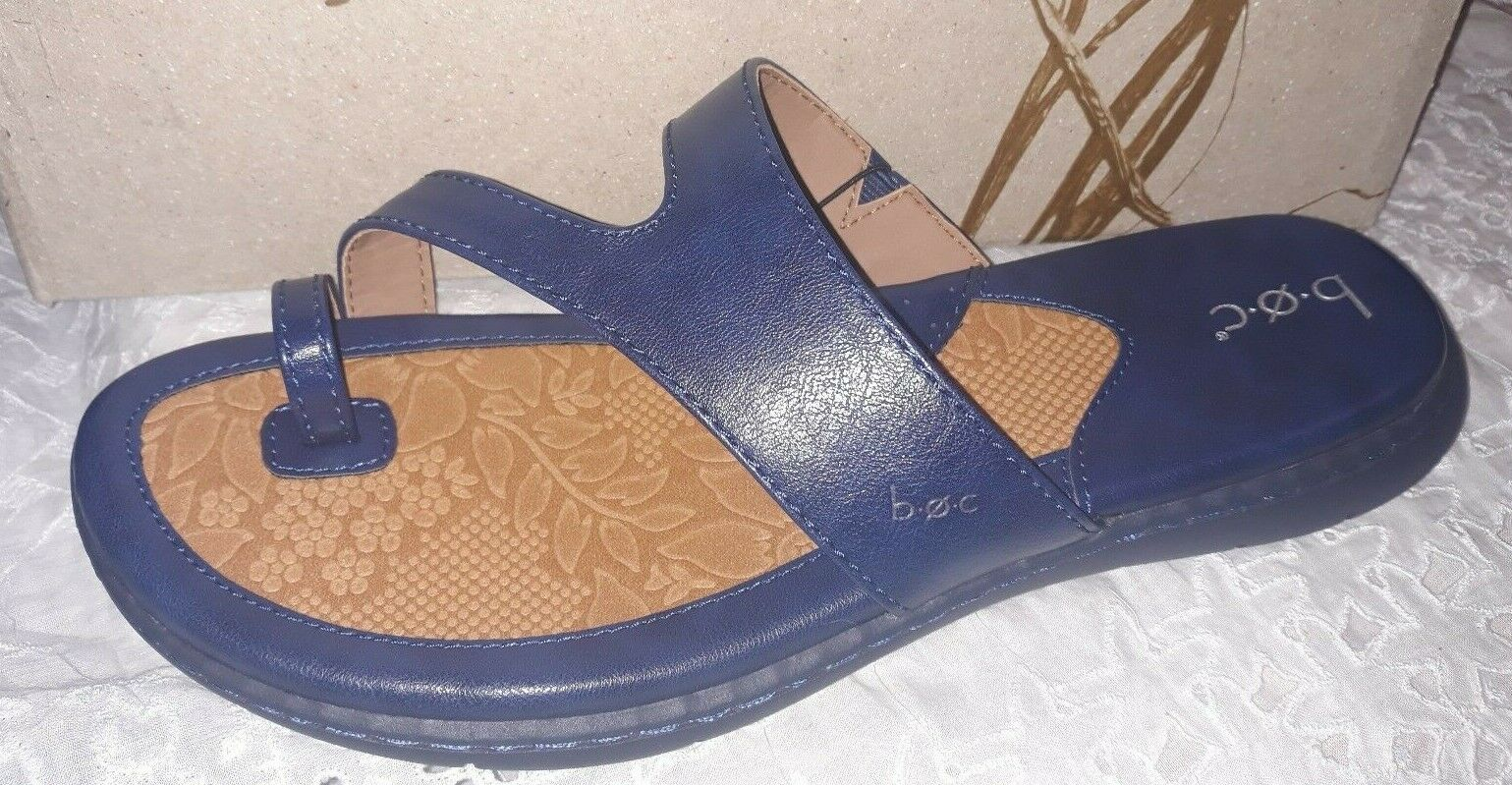 Womens BOC Born Laurine Toe Ring Navy  Slip On Sandals Size 9 M shoes NEW