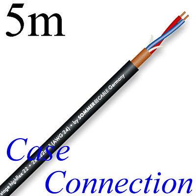 5m Sommer Cable STAGE 22 HIGHFLEX 2x 0,22mm² # Mikrofonkabel schwarz