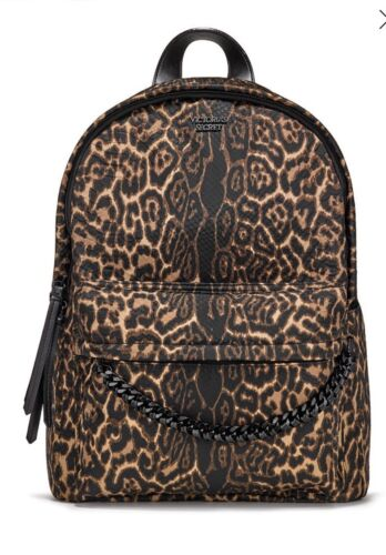 Victorias Secret CITY Backpack PYTHON NYLON LEOPARD PRINT NEW