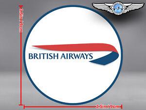 BRITISH AIRWAYS BA WHITE BACKGROUND LOGO DECAL / STICKER