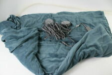 Sunbeam Channeled Velvet Plush Electric Heated Blanket Queen Heritage Blue