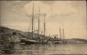Stonington-ME-Landing-at-Crotch-Island-c1910-Postcard