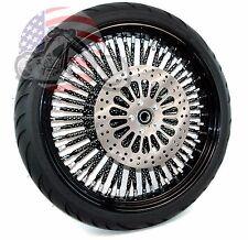 21 X 3.5 52 Mammoth Fat Black Evo Spoke Rim Wheel BW Tire Harley Touring ABS 08+