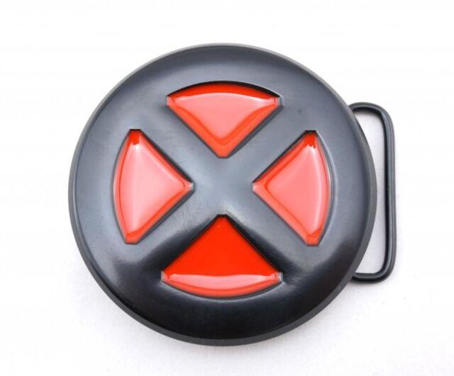 X Men Logo Belt Buckle Red Black Xmen All Metal Enamel Xman X Man