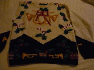 Charter Club Vintage Ugly Pull Sz petit Nouveau Christmas Womens Pullover tIxtq6wf