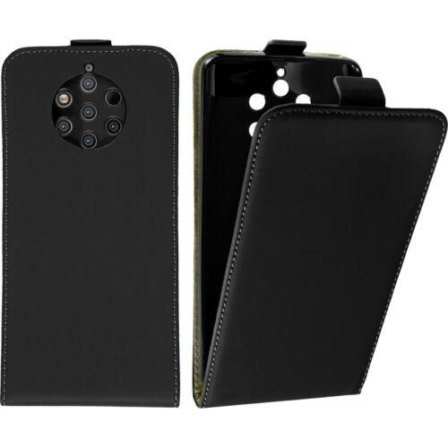 Tapa Flip caso Nokia PureView 9 cuero negro cubierta protectora caso plegable
