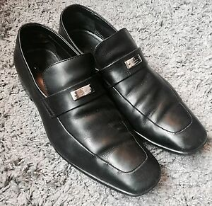 c91086510c3 Image is loading Mens-GUCCI-Black-Leather-Driver-Slip-On-Loafers-
