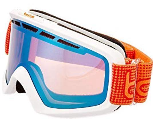 8c2b3456566 Bolle Nova II Ski Goggles Matte White   Orange Aurora Lens 21275 Cat. 2 for  sale online