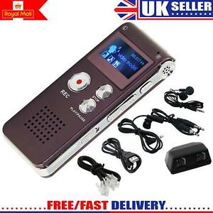 8GB-Rechargeable-Steel-DIGITAL-Sound-Voice-Recorder-Dictaphone-MP3-Player-Record