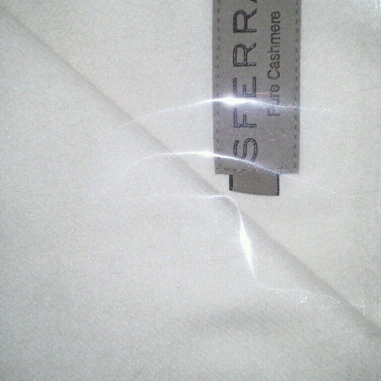 New Sferra Dorsey Cashmere Throw - Ivory