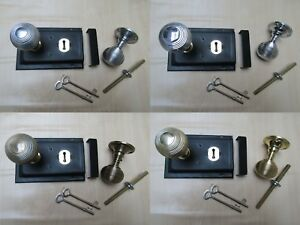 OLD-RETRO-1920s-VICTORIAN-RIM-DOOR-LOCK-RIM-DOOR-KNOB-HANDLE-SET