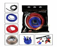 Bullz Audio 4 Gauge Car Sub Amp / Amplifier Power Wiring Install Kit Bge4rp on sale