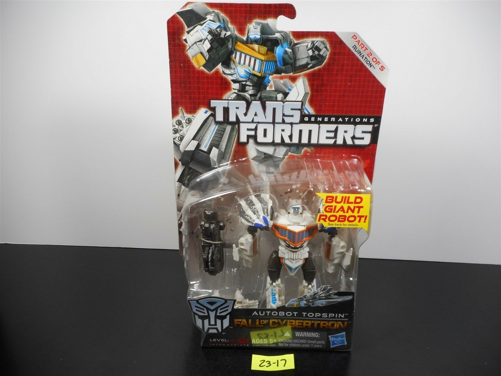 NEW & SEALED  TRANSFORMERS GENERATIONS FOC AUTOBOT TOPSPIN RUINATION 2 OF 5 2317