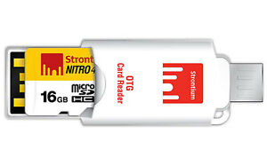 Strontium NITRO CLASS10 16GB MICRO SD UHS-1 433X With OTG Card Reader (SRN16GTFU1T)