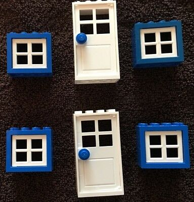 *New* Lego City Train Friends Belville Town House 2 Doors and 4 Windows Lot Set