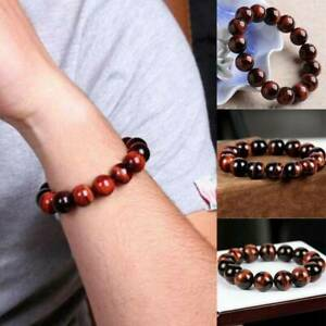 6mm-Natural-AAA-Red-Tiger-Eye-Stone-Round-Beads-Stretchy-Bracelet-Jewelry-Gift