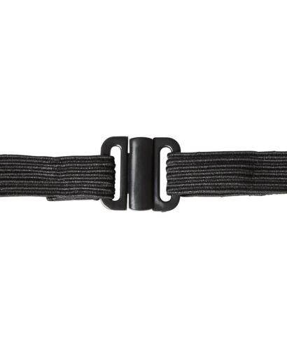 JB/'s wear Black Neck Tie with Elastic Adjustable Neck Strap Easy Care 5 pack
