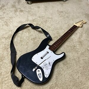 Nintendo Wii Harmonix Fender Stratocaster Black Guitar A #NWGTS2 Rock Band