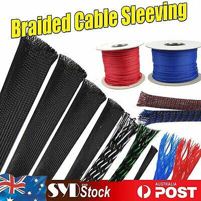 8mm Expandable High Density Polyester Sleeve Sleeving Cover Braiding 1m 6mm