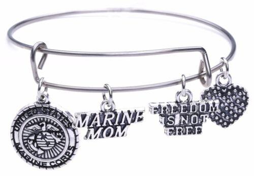 United States Marine Corps Marine Mom Freedom Is Not Free Statement Bracelet