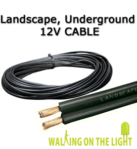 10m 1.5mm2 2 Core OUTDOOR 12V CABLE for Garden Lighting