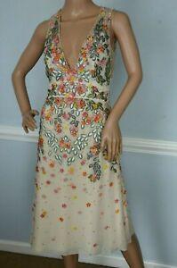 New-5275-Jenny-Packham-Embroidered-Embellished-Floral-Tulle-Dress-UK-16-US-12