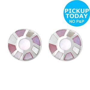 b7f10d82d29436 Revere Sterling Silver Mother of Pearl Stud Earrings   eBay