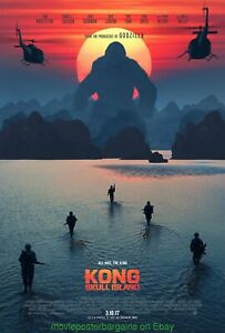 KONG-SKULL-ISLAND-MOVIE-POSTER-Mint-Original-DS-27x40-Advance-Style-2017-Film