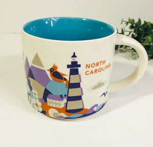 Starbucks-North-Carolina-You-Are-Here-Collection-Mug-Coffee-Cup-14-Oz-Retired