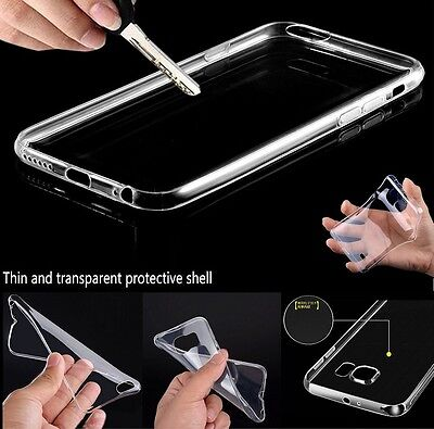 Ultra Thin Slim Crystal Clear Soft Rubber TPU Skin Case Cover For Apple Samsung