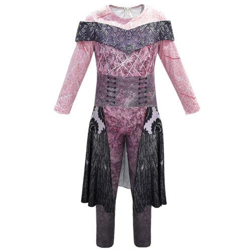 Carnival Costume Kids Girls Boys Descendants 3 Mal Audrey Evie Fancy Jumpsuit