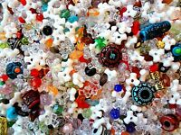 1/2 Pound Assorted Plastic Beads Mix Bulk Decorative Arts Crafts