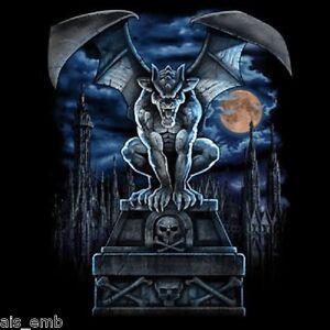 Gargoyle Moon HEAT PRESS TRANSFER for T Shirt Sweatshirt Quilt Fabric Block 675o