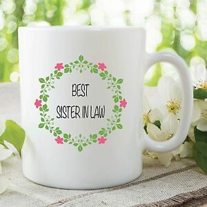 Image Is Loading Best Sister In Law Mug Birthday Present Coffee