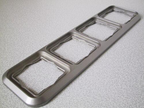 KOPP Abdeckrahmen 4-fach Rahmen AMBIENTE platin-silber UP Unterputz 4fach