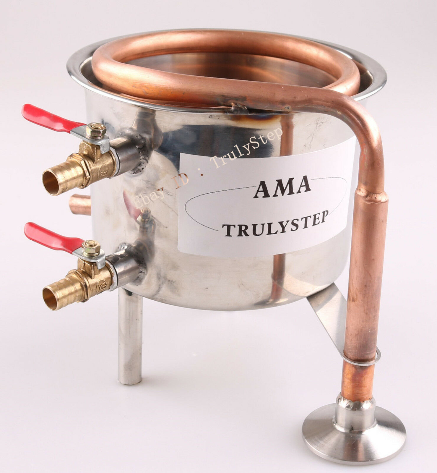 Fit 2 Pot Moonshine still   Distiller  Stainless Steel   Copper Coil Cooling Pot