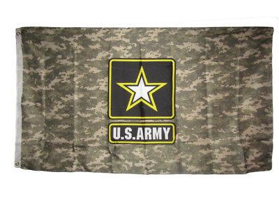 3'x5' U.S. Army Star Logo Digital Camo Camouflage 3x5 Flag Polyester (Licensed)