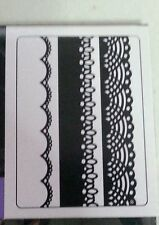 "DARICE EMBOSSING FOLDER-LACE-3 Pack-1.5"" X 5.75""-1217-76-BORDER-CARD"