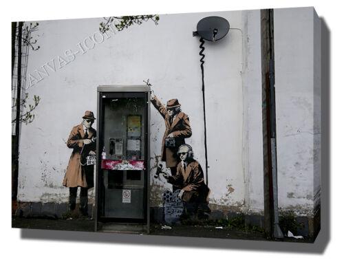 BANKSY Lona Impresión Poster Foto Pared Arte Ilustraciones Motivacional phonebox Tap
