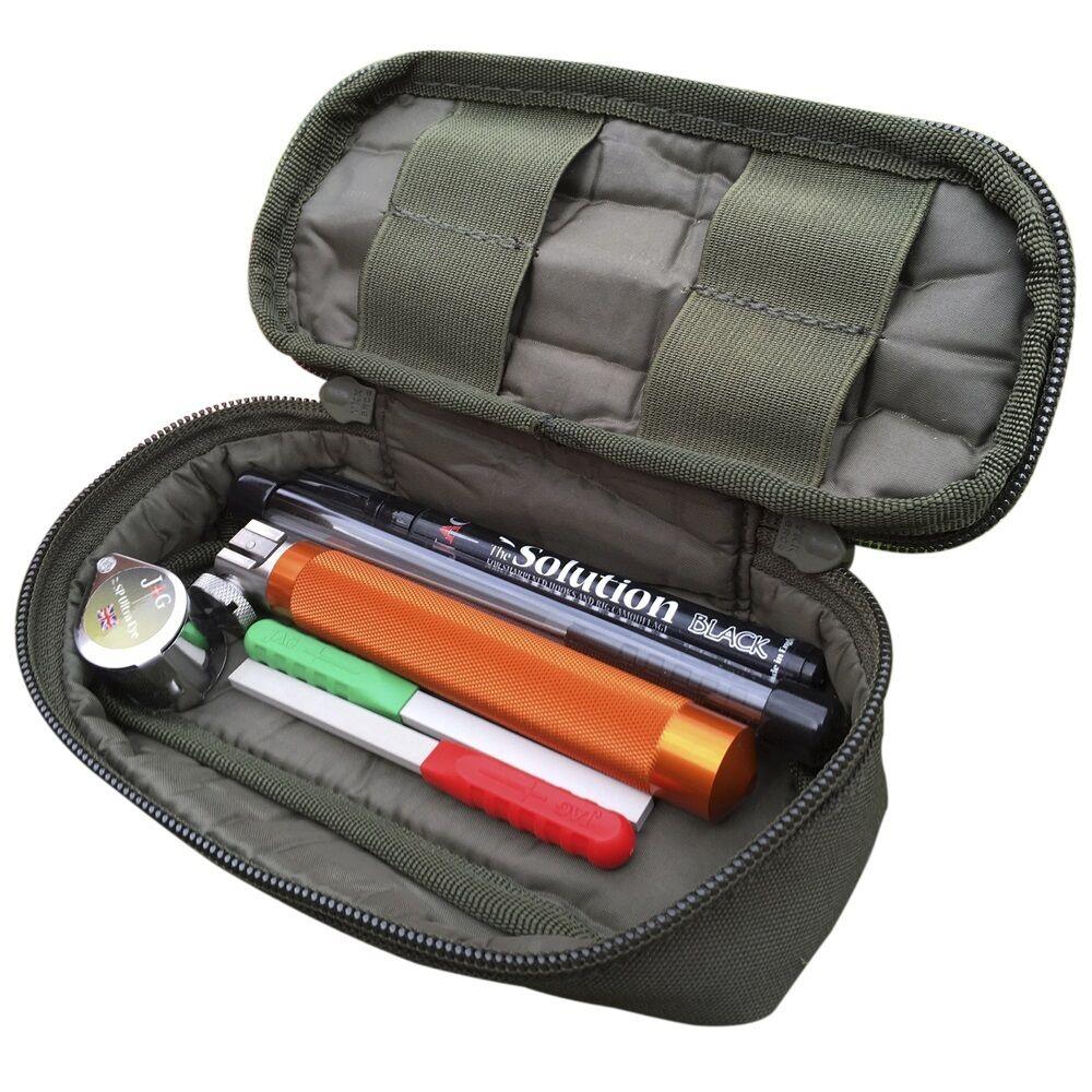 JAG Products Carp inc Fishing Hook Sharpening Kit inc Carp Pouch, Eye, Files, Pens b7944e